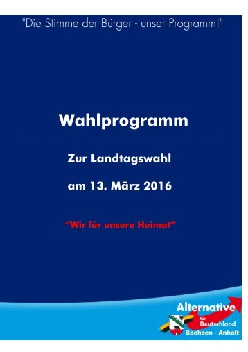 Wahlprogramm
