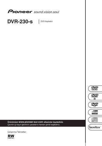Pioneer DVR-230-S - User manual - turc