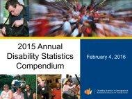 2015 Annual Disability Statistics Compendium