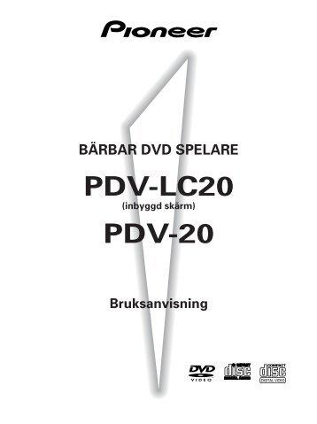 Pioneer PDV-LC20 - User manual - suédois