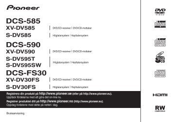 Pioneer DCS-590 - User manual - norvégien, suédois