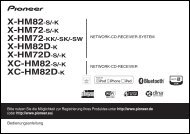 Pioneer X-HM72-K - User manual - allemand