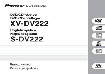 Pioneer DCS-222 - User manual - danois, suédois