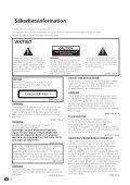 Pioneer BCS-SB626 - User manual - danois, finnois, suédois - Page 2