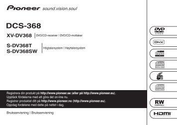 Pioneer DCS-368 - User manual - norvégien, suédois