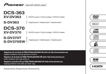 Pioneer DCS-370 - User manual - danois, norvégien, suédois