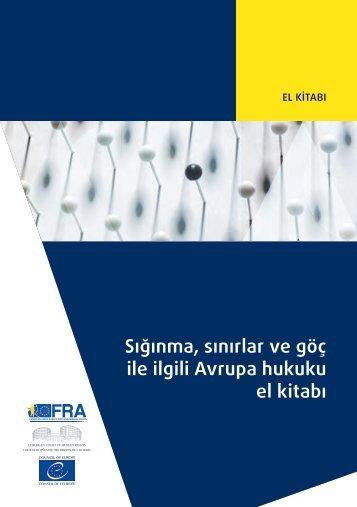 Sığınma sınırlar ve göç ile ilgili Avrupa hukuku el kitabı