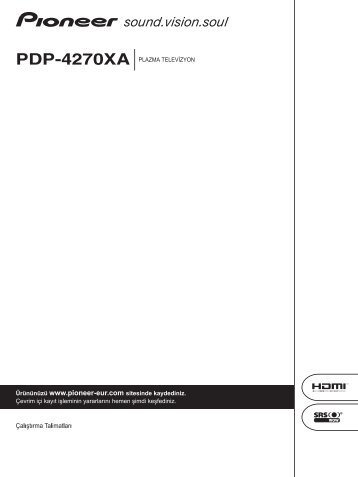 Pioneer PDP-4270XA - User manual - turc