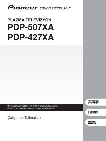 Pioneer PDP-507XA - User manual - turc
