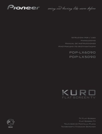 Pioneer PDP-LX5090 - User manual - espagnol, italien, néerlandais, russe
