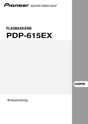 Pioneer PDP-615EX - User manual - suédois
