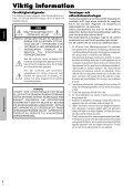 Pioneer PDP-615EX - User manual - suédois - Page 3