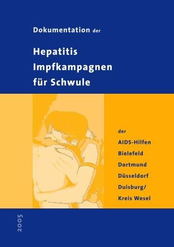 Hepatitis Impfkampagnen für Schwule - Die AIDS-Hilfe Bielefeld