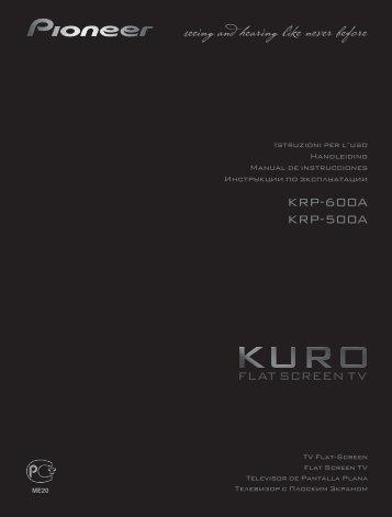Pioneer KRP-500A - User manual - espagnol, italien, néerlandais, russe