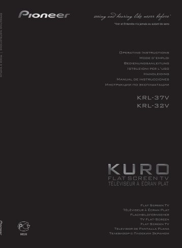 Pioneer KRL-32V - User manual - allemand, anglais, espagnol, français, italien, néerlandais, russe