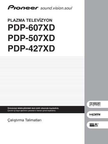 Pioneer PDP-427XD - User manual - turc