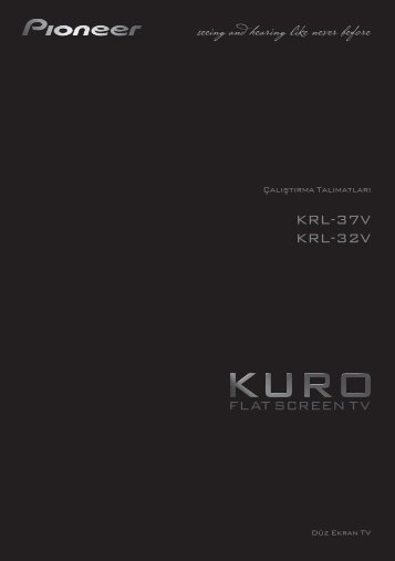 Pioneer KRL-37V - User manual - turc