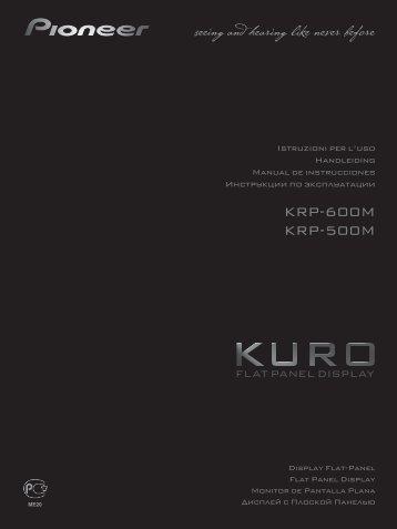 Pioneer KRP-500M - User manual - espagnol, italien, néerlandais, russe