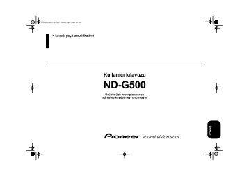 Pioneer ND-G500 - User manual - turc