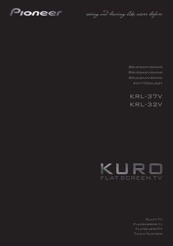Pioneer KRL-32V - User manual - danois, finnois, norvégien, suédois