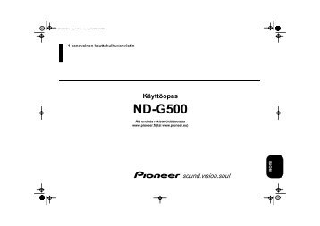 Pioneer ND-G500 - User manual - finnois