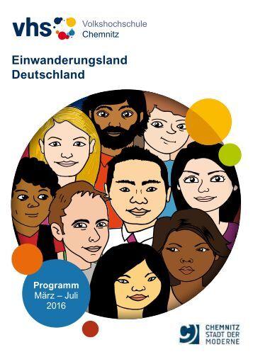 Programmheft der Volkshochschule Chemnitz, Frühjahrs-/Sommersemester 2016