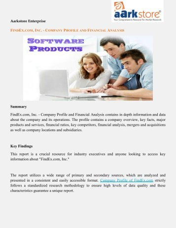 Company Profile of FindEx: Aarkstore.com