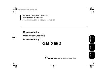Pioneer GM-X562 - User manual - danois, norvégien, suédois