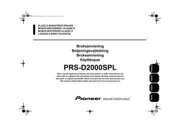 Pioneer PRS-D2000SPL - User manual - danois, finnois, norvégien, suédois