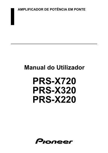 series each additional s pioneer prs x720 user manual portugais