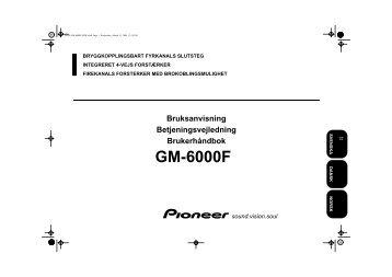 Pioneer GM-6000F - User manual - danois, norvégien, suédois