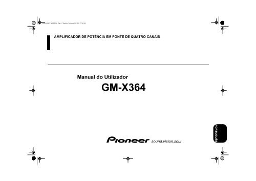 Pioneer GM-X364 - User manual - portugais