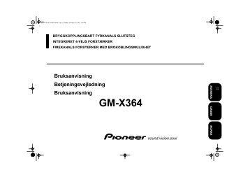 Pioneer GM-X364 - User manual - danois, norvégien, suédois