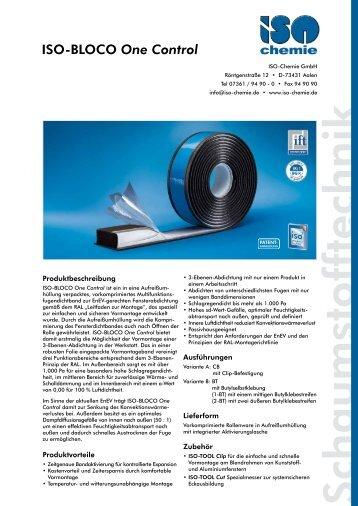 ISO-BLOCO One Control - ISO Chemie GmbH