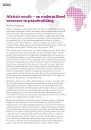 Africa's youth – an underutilised resource in peacebuilding
