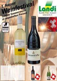 1. August Weinfestival Leichte Som zu sagenha - Landi