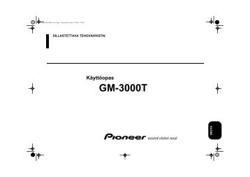 Pioneer GM-3000T - User manual - finnois