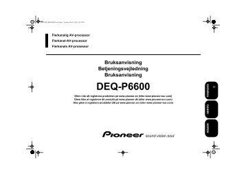 Pioneer DEQ-P6600 - User manual - danois, norvégien, suédois