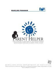 PPARENT HELPER - Maryland State Department of Education