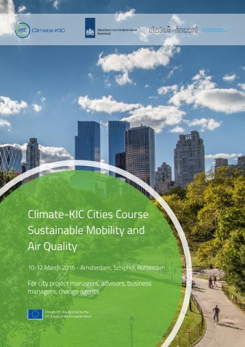 Climate-KIC Cities Course Sustainable Mobility and Air Quality