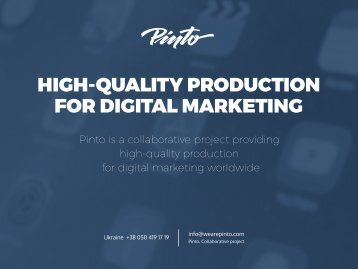 HIGH-QUALITY PRODUCTION FOR DIGITAL MARKETING
