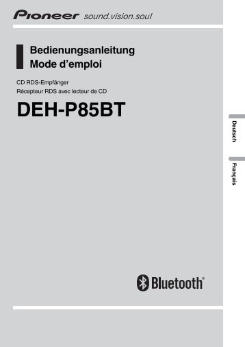 Pioneer DEH-P85BT - User manual - allemand, français