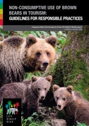 NON-CONSUMPTIVE USE OF BROWN BEARS IN TOURISM