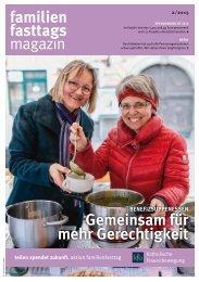 Familienfasttagsmagazin: Spendenbericht 2014