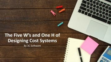 Designing Cost Systems