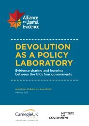 DEVOLUTION AS A POLICY LABORATORY