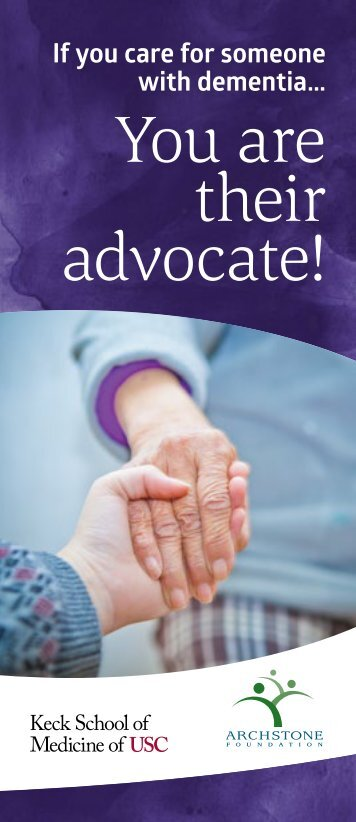 You are their advocate!