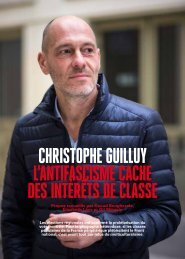 CHRISTOPHE GUILLUY L'ANTIFASCISME CACHE DES INTÉRÊTS DE CLASSE