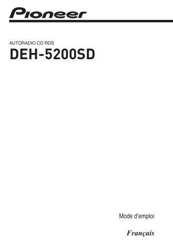 Pioneer DEH-5200SD - User manual - français