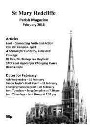 St Mary Redcliffe Parish Magazine February 2016